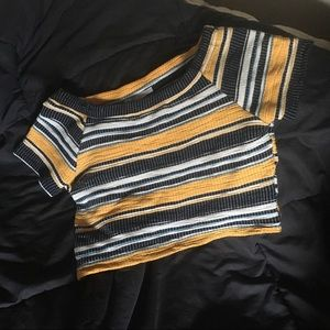 Zara's striped crop top